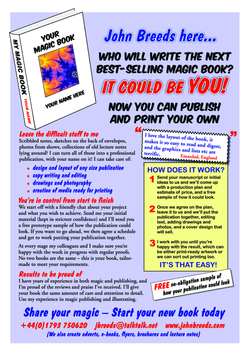 Flyer for Book Publising Services by John Breeds